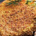 Atún empanado con pistachos