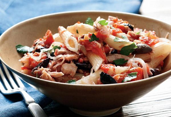 healthy-pasta-penne-tuna salad