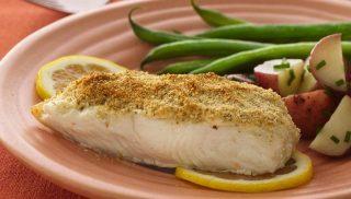 Filete de pescado a la parmesana