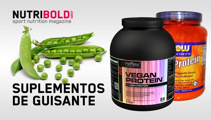 Pea Protein de Now Foods y Vegan Protein de Reflex Nutrition, dos suplementos de guisante