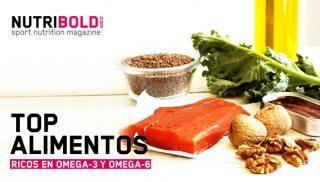 Top alimentos ricos en Omega-3 y Omega-6 ácidos grasos esenciales (comparativa)