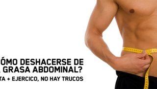 ¿Cómo deshacerse de la grasa abdominal?