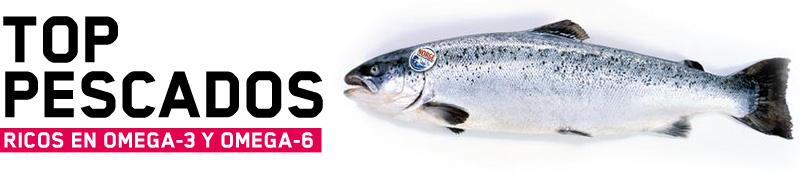 Top pescados ricos en omega3 y omega6