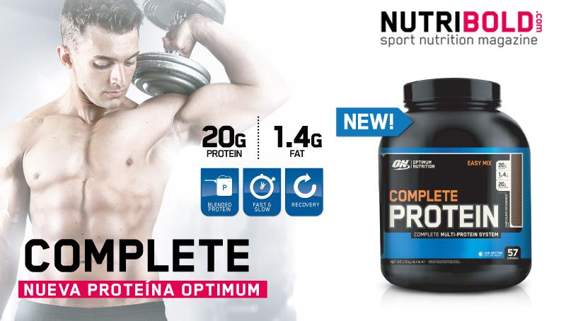 "Complete, nueva proteína ""Completa"" de Optimum Nutrition"
