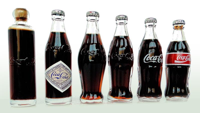 Evolución Botellas de Coca-Cola